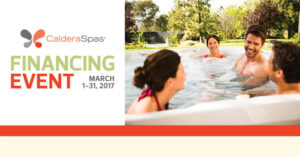 Caldera Spas Financing event at New Products Inc.